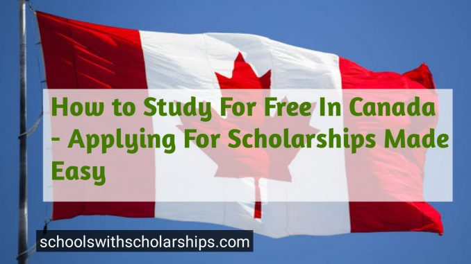 How to study for free in Canada
