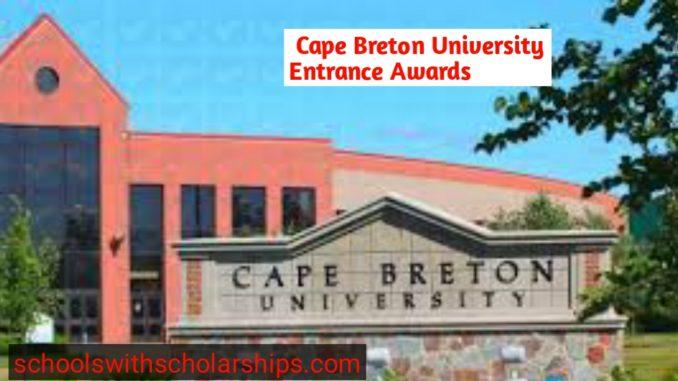 Cape Breton University Entrance Scholarships, Canada