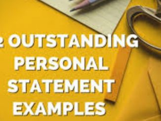 Personal Statement for scholarships