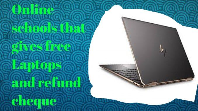 refund checks and laptops
