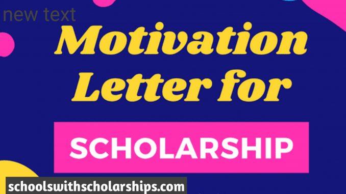 Motivation letter for scholarship